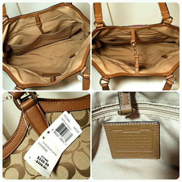 2af586c75e50 ... Philippines When In Coach Bags - New Coach Pink Snake skin stripe large  brown tote ...