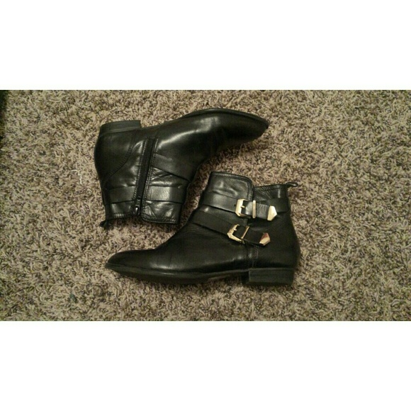 ALDO - Aldo Black Buckle Ankle Boots from Denisse\'s closet on Poshmark