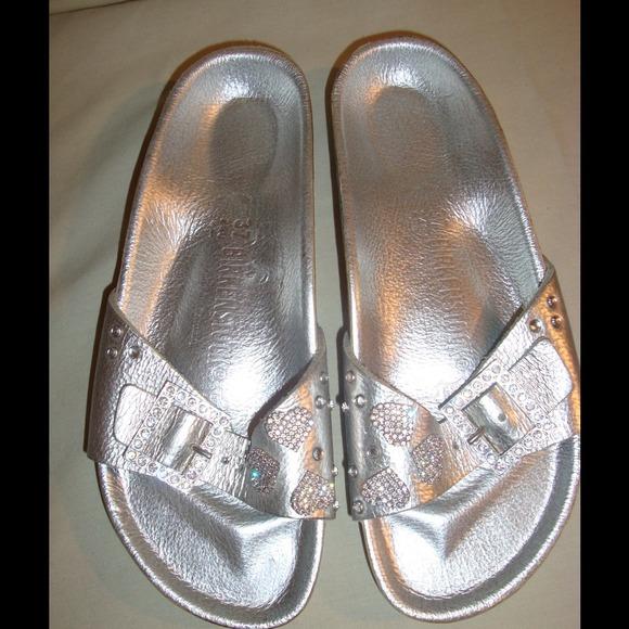 huge selection of 30bae fbe04 Silver w/Swarovski Birkenstock Heidi Klum Sandals