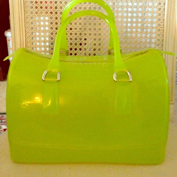 66% off Furla Handbags - Furla Candy Satchel Handbag in Neon Green ...