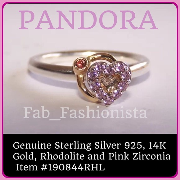 e853334d3 Pandora Jewelry - 🎀HP2/6🎀PANDORA 14K Gold+Silver Heart ring