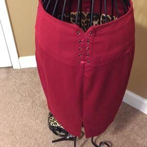 6f43a0a570 Express design studio Skirts | Express Dark Red Midi Skirt | Poshmark