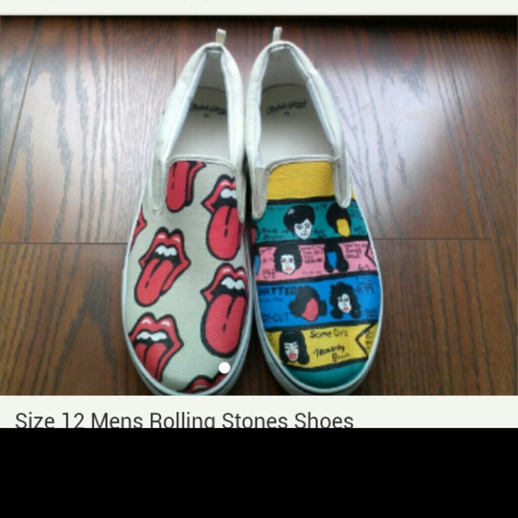 2dbf83d893281 Custom Men's size 12 Rolling Stones Shoes NWT