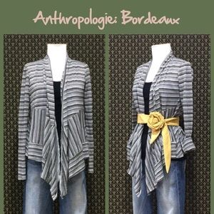 """Anthro """"Grey Channels Cardigan"""" by Bordeaux"""