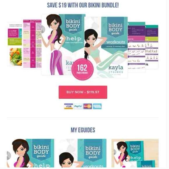 87% off Other - Kayla itsines bbg 1.0, 2.0,help, & timetable! from ...
