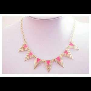Lowest price! Triangle statement necklace.