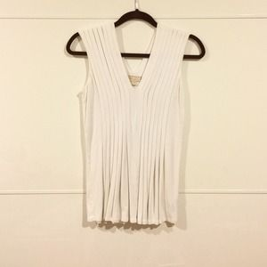 Michael Kors White Sleeveless Top