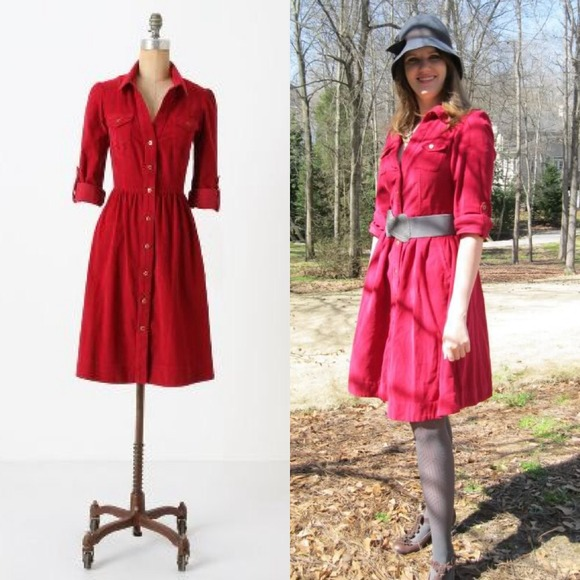 9e2f581faa409 Anthropologie Dresses & Skirts - Anthropologie Refined Cord Shirtdress