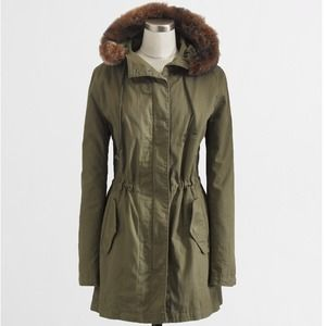 J. Crew Outerwear - NWT J.Crew Hooded Parka w/ Faux Shearling Lining M
