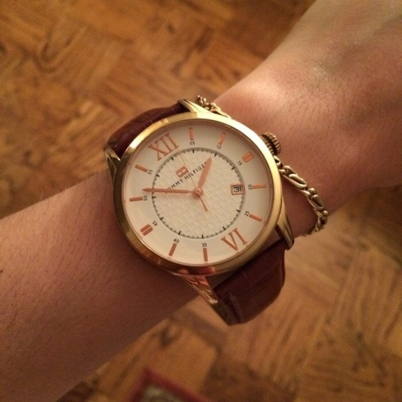 40 off tommy hilfiger accessories rose gold tommy hilfiger watch from vivian 39 s closet on poshmark. Black Bedroom Furniture Sets. Home Design Ideas