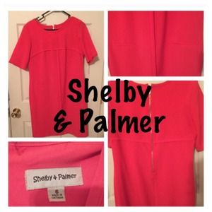 Shelby and palmer Dresses & Skirts - SALE Coral shift dress with faux pockets