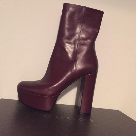 d7ce76e4496 Gucci Platform Boot (Burgundy Wine)