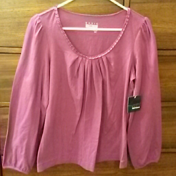33 basic editions tops plum colored top from
