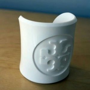 Auth Tory Burch White Resin Cuff!