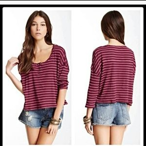 FREE PEOPLE striped Henley