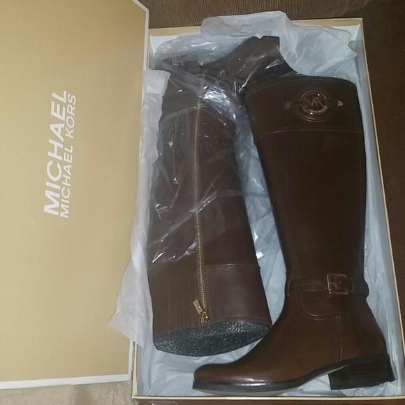 c65dac45b4ffd Michael Michael Kors Mocha Stockard Riding Boots