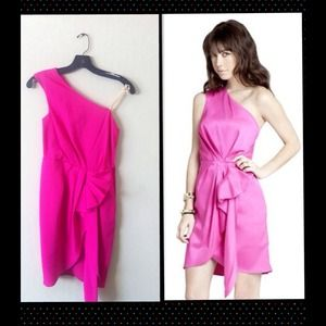 BCBG Generation Pink Flounce Formal Dress