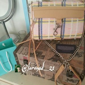 HPRare Rebecca Minkoff Plaid Canvas Purse