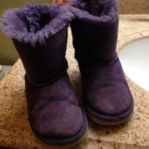Ugg Shoes S Purple Bailey Bow Boots Used Toddlers Size 8