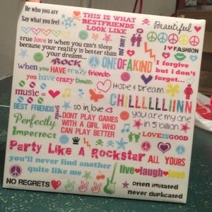 Fun quoted colorful canvas picture