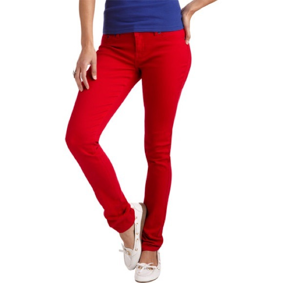 13% off lei Denim - NWT LEI red skinny jeans from Nella's closet ...