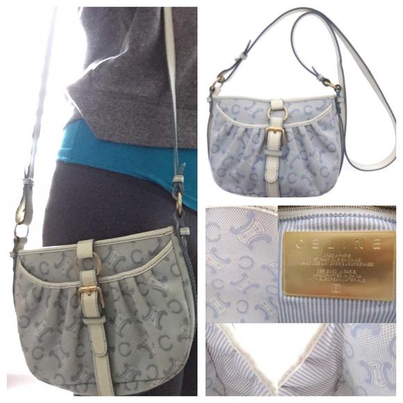 celine bag blue and white