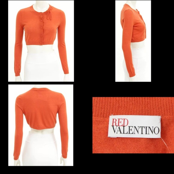 56% off RED Valentino Sweaters - Red Valentino orange cropped ...
