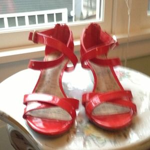 Red Patent Merona Wedge