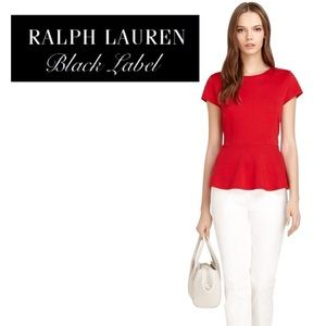 Bold Red Ralph Lauren Black Label Peplum