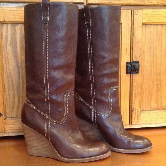 4cd550b9c328 Frye Boots - Frye Caroline Campus Wedge Boots
