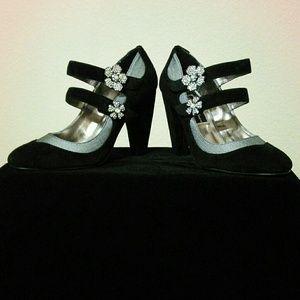 Beverly Feldman Shoes - 👠HOST PICK👠Sparkle Beverly Feldman Velvet Heels