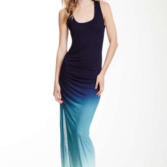 43cd5521bd YFB Ruched side slit ombré maxi dress. M 549b5e852922dc0e44053e7a