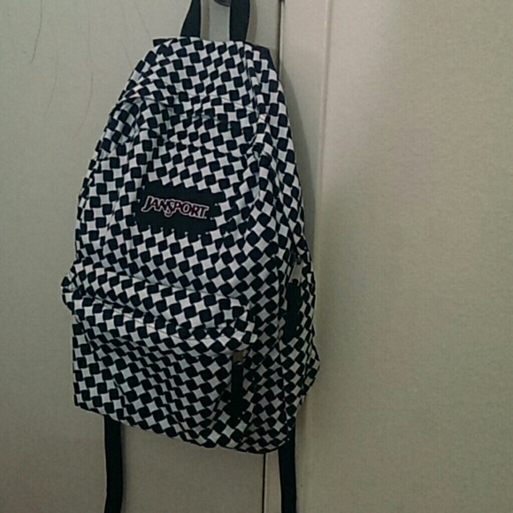 Jansport Accessories Black And White Checkered Backpack