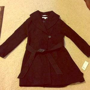NEW Larry Levine Black Coat.