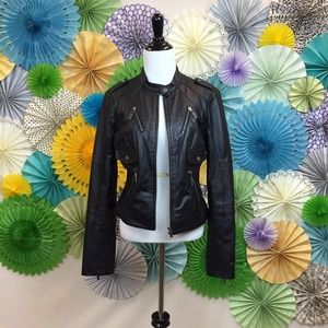 bebe Jackets & Blazers - {ON HOLD} 1/27 + 4/1 HOST PICK Leather Moto Jacket