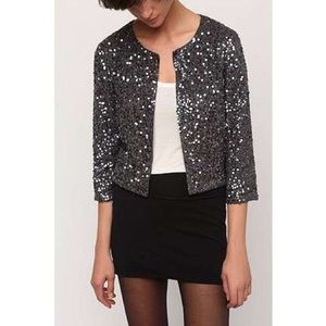 Sequin cropped cardigan