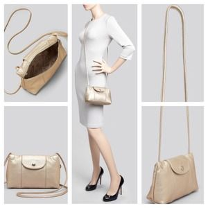 0eee9c859 Longchamp Bags | Crossbody Le Pliage Cuir Small Metallic | Poshmark