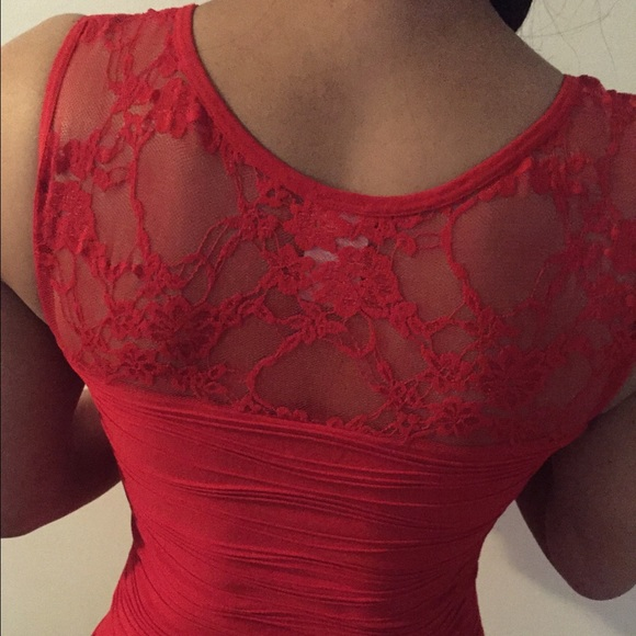 Dresses - Red Lace Bondage Dress!