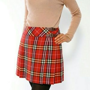 HP! BURBERRY Blue Label Wrap Skirt
