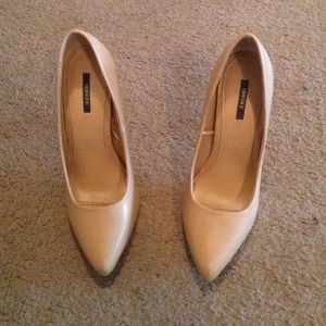 Forever 21 Shoes - Pointy Nude Pumps