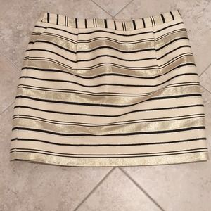 NWT J.Crew Gold Stripe Skirt