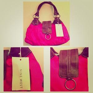 Cute pink Nine West handbag 