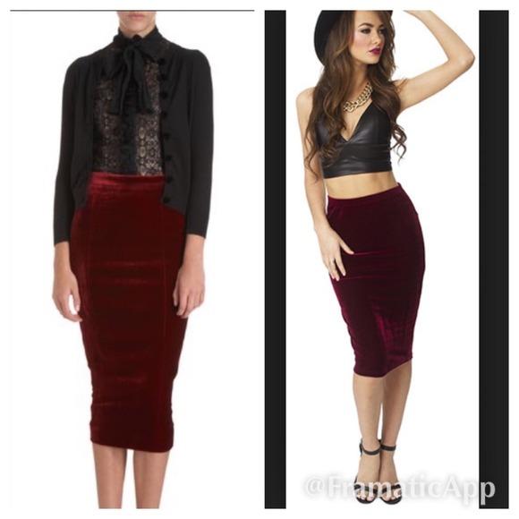 Leshop - Maroon pencil skirt from Tarah's closet on Poshmark