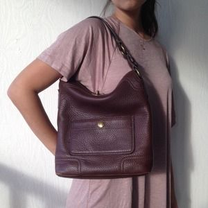 Leather Chocolate brown Coach purse
