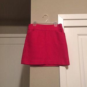 Ann Taylor LOFT Hot Pink Mini Skirt 00P