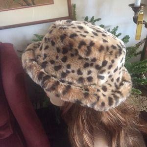 4c6022dc Nine West Accessories - Leopard Print Cloche Faux Fur Hat ~ NINE WEST