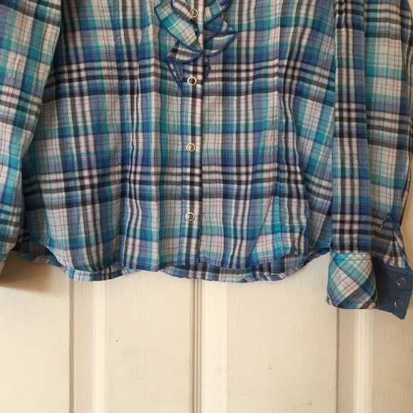 80 off zara tops blue plaid shirt zara from yay 39 s closet on poshmark. Black Bedroom Furniture Sets. Home Design Ideas