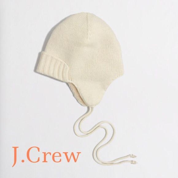 82bb70f2f349b •NEW• J.Crew Off-White Warm Winter Hat