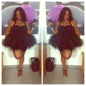 Black Plus Size Tutu