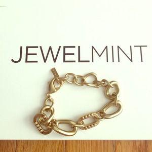 Jewelmint gold brushed chain bracelet